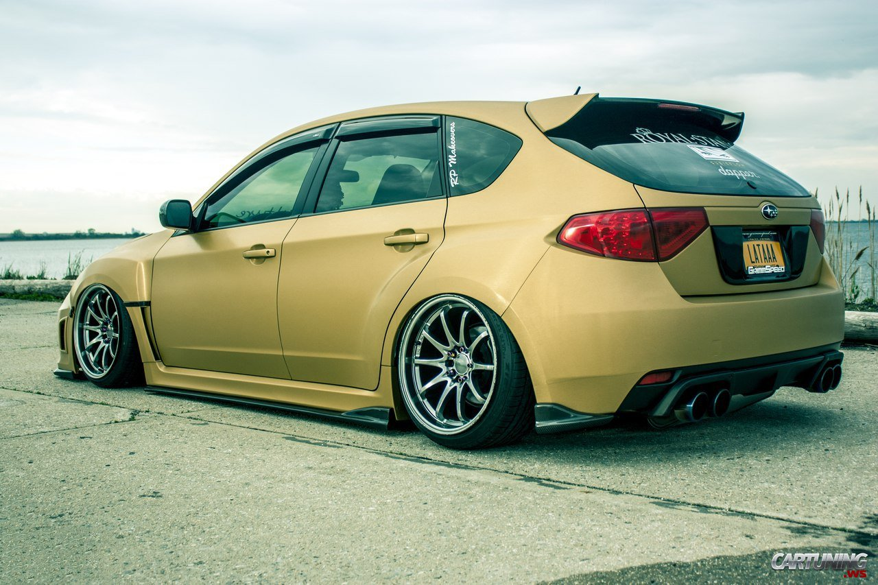 stanced subaru impreza hatchback rear. Black Bedroom Furniture Sets. Home Design Ideas