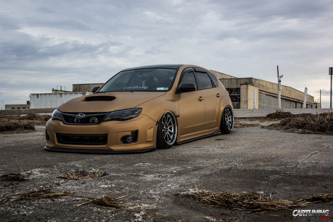 stanced subaru impreza hatchback front. Black Bedroom Furniture Sets. Home Design Ideas