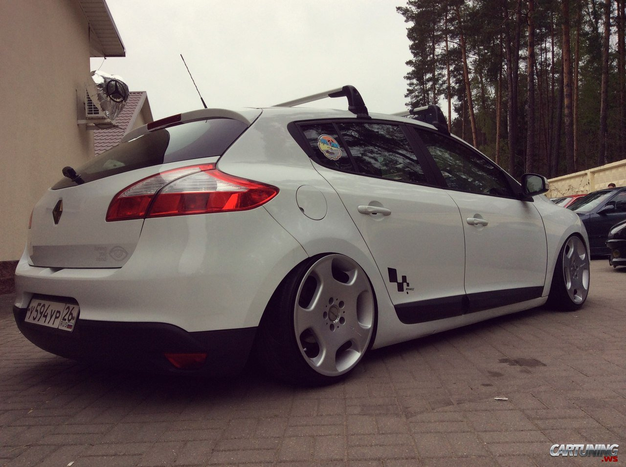 stanced renault megane 3 rear. Black Bedroom Furniture Sets. Home Design Ideas