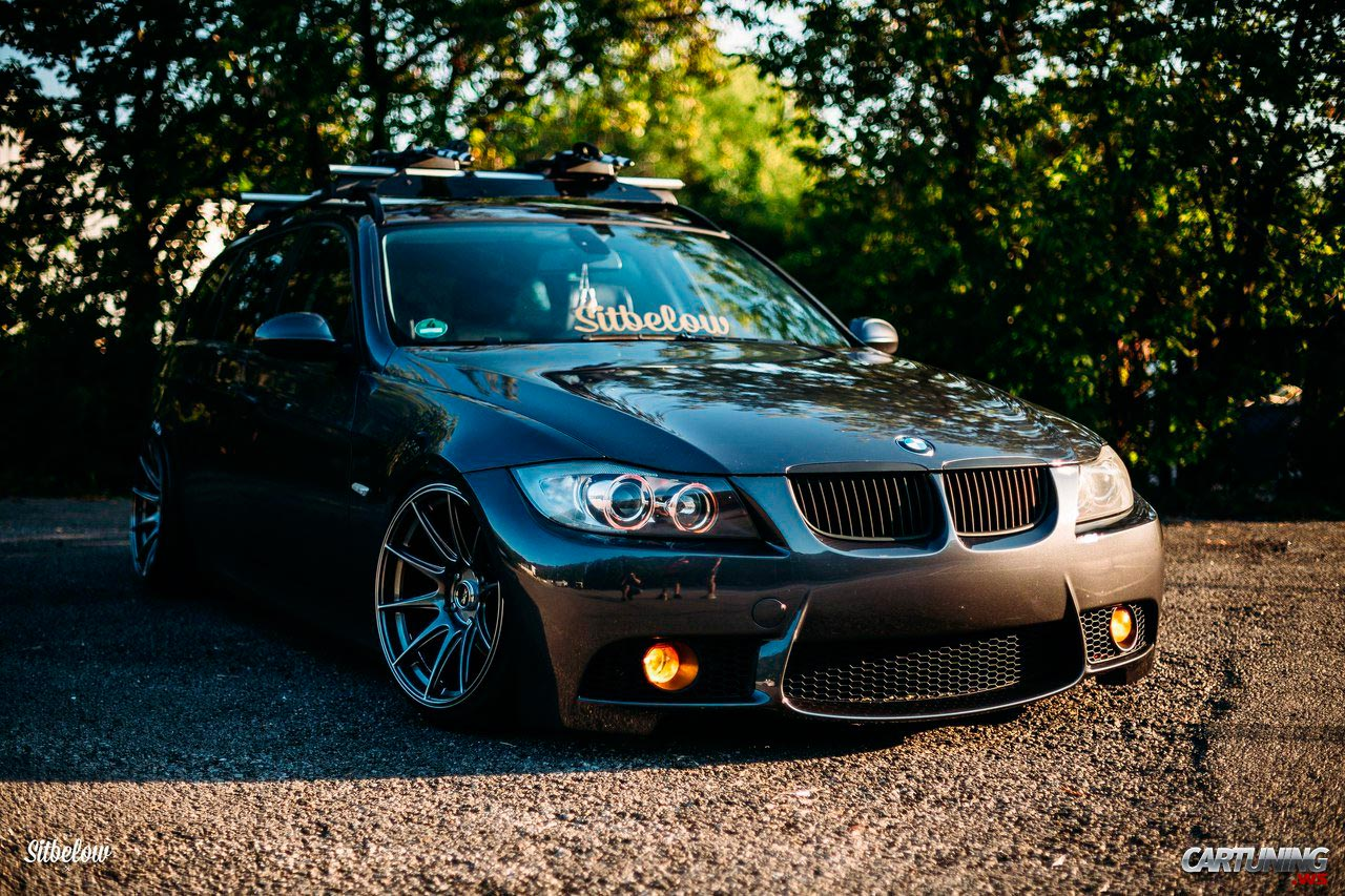stanced bmw 330i touring e91 front. Black Bedroom Furniture Sets. Home Design Ideas