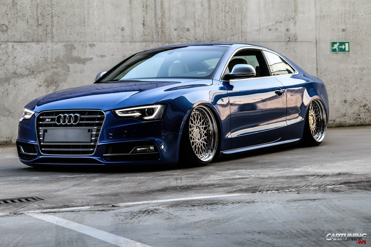 Stanced Audi S5 Coupe 2016 Front