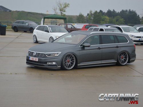 stanced volkswagen passat variant b8 side. Black Bedroom Furniture Sets. Home Design Ideas
