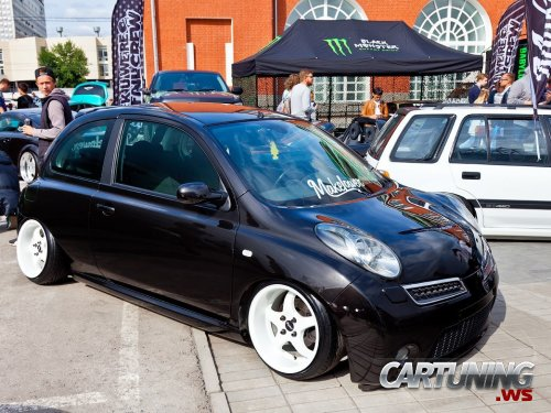 Stanced Nissan Micra