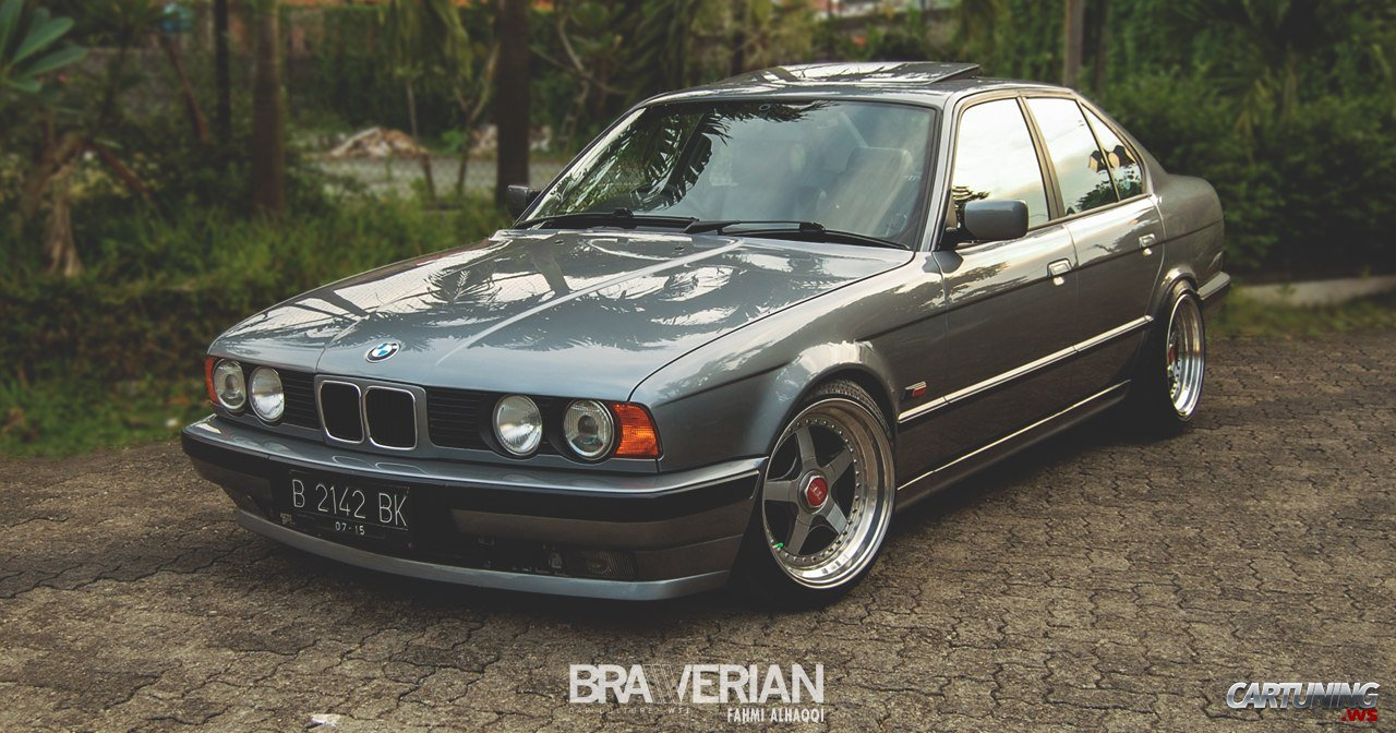 tuning bmw 525i e34 side. Black Bedroom Furniture Sets. Home Design Ideas