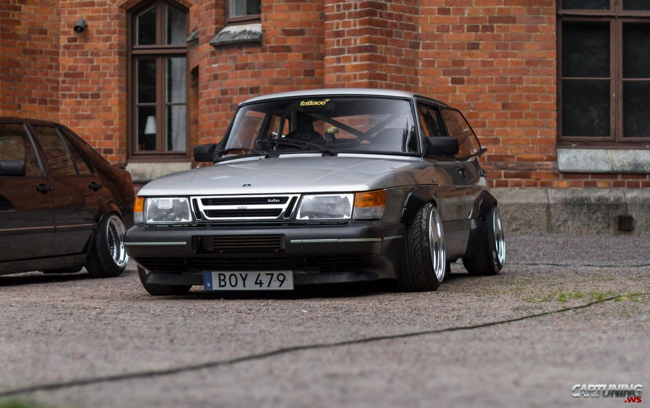 Stanced Saab 900 Turbo 187 Cartuning Best Car Tuning