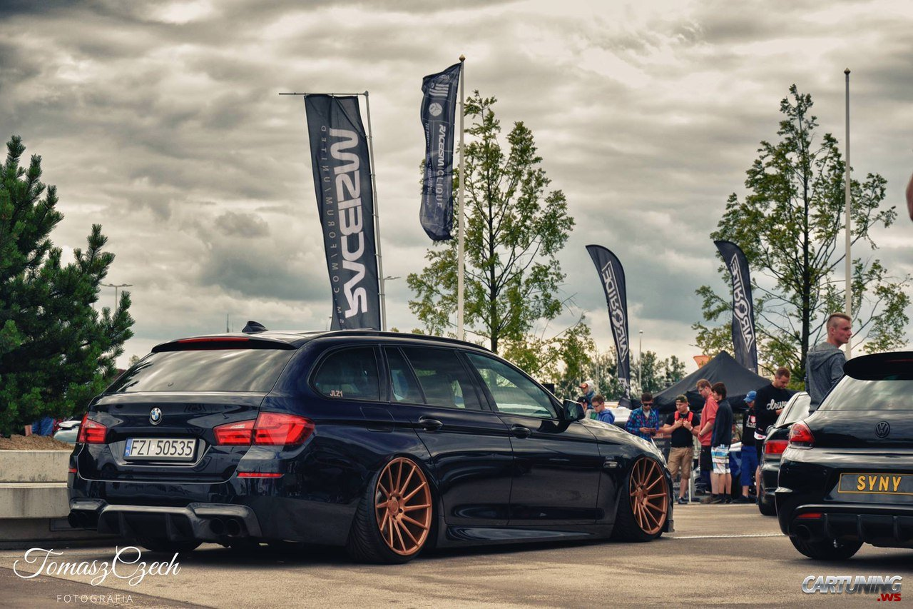 Stanced BMW 530d Touring F11 rear