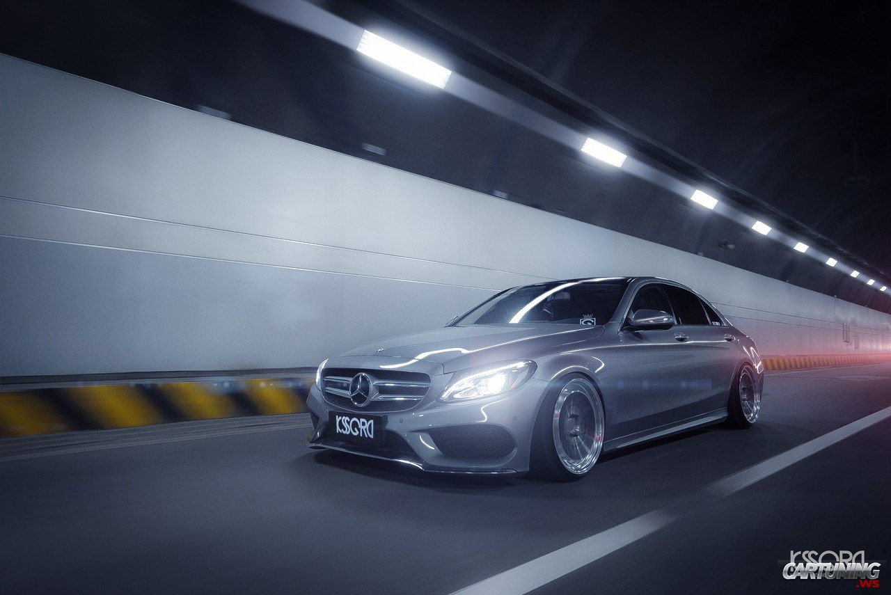 Stanced Mercedes Benz C250 W205