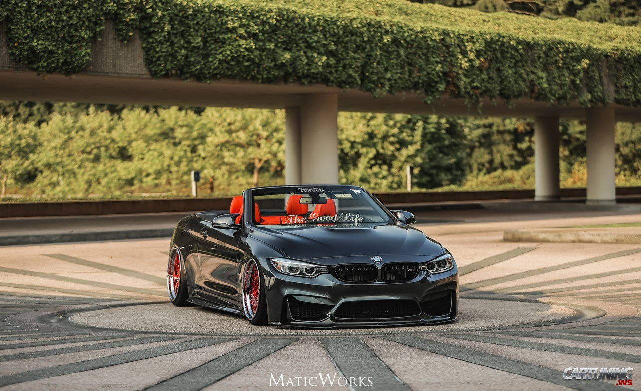 Stanced Bmw M4 Convertible F83 Cartuning Best Car Tuning Photos From All The World