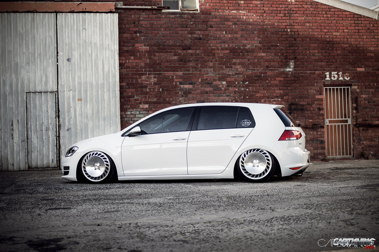 stanced volkswagen golf tsi mk side