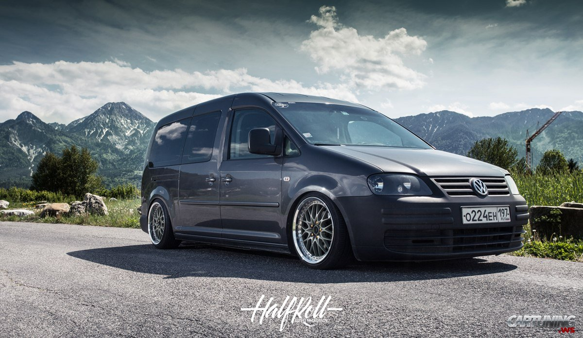 Vw Scirocco Usa >> Stanced Volkswagen Caddy Maxi front