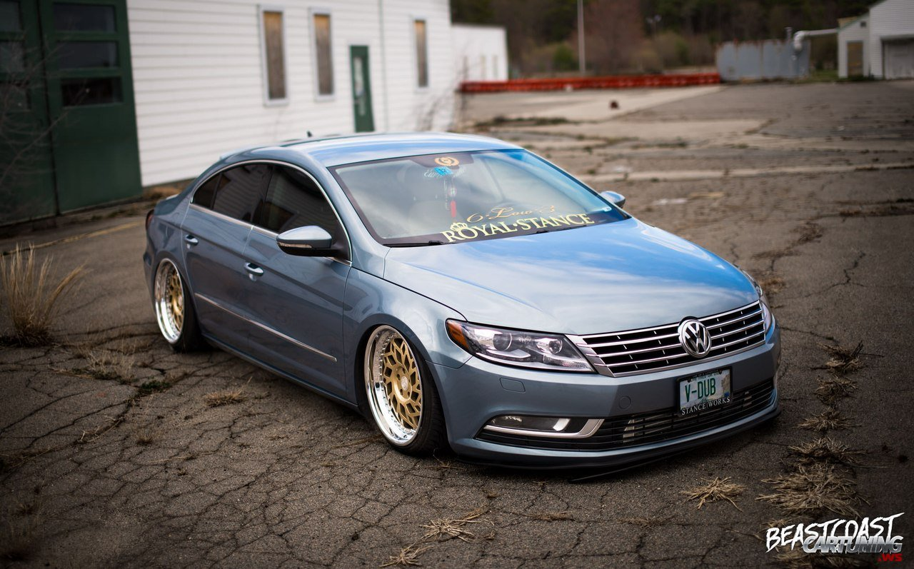 stanced volkswagen passat cc. Black Bedroom Furniture Sets. Home Design Ideas