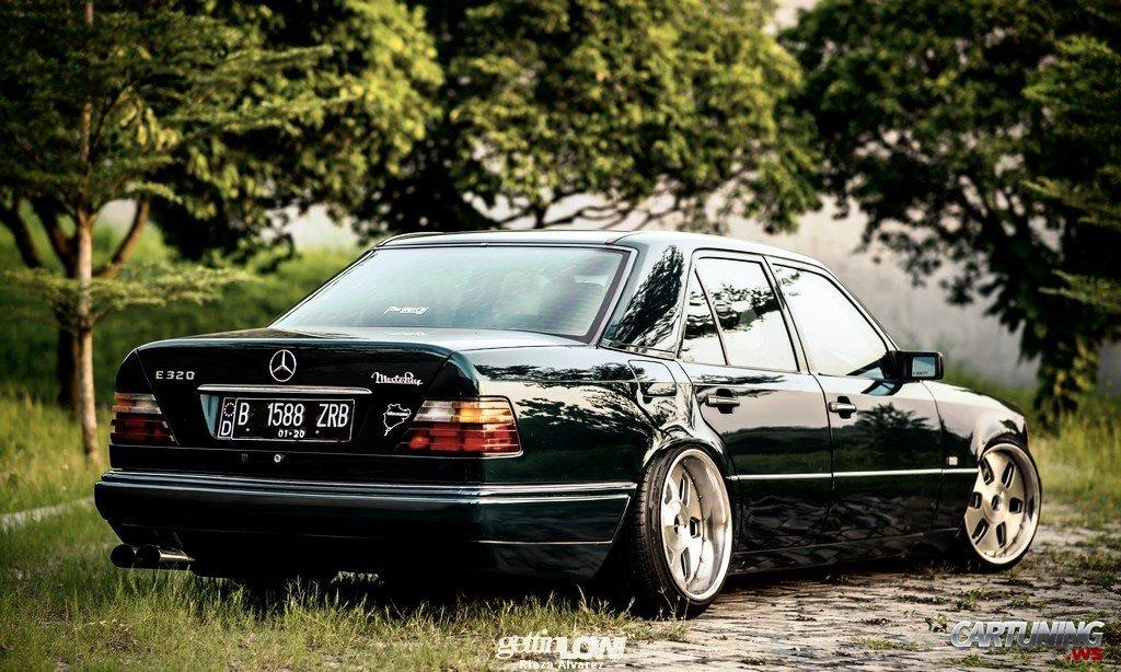 Stanced Mercedes Benz E320 W124 187 Cartuning Best Car