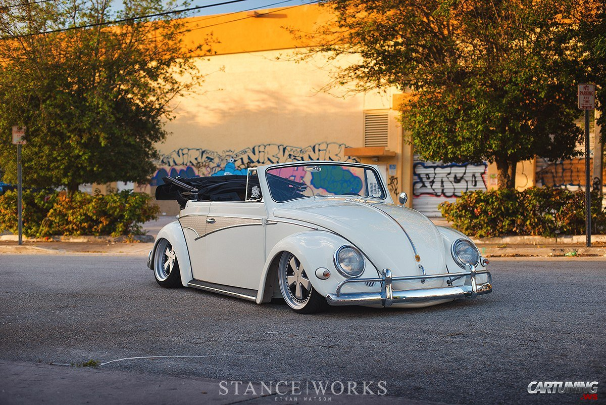 Low Volkswagen Beetle Convertible front