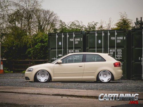 Stanced Audi A3 3dr