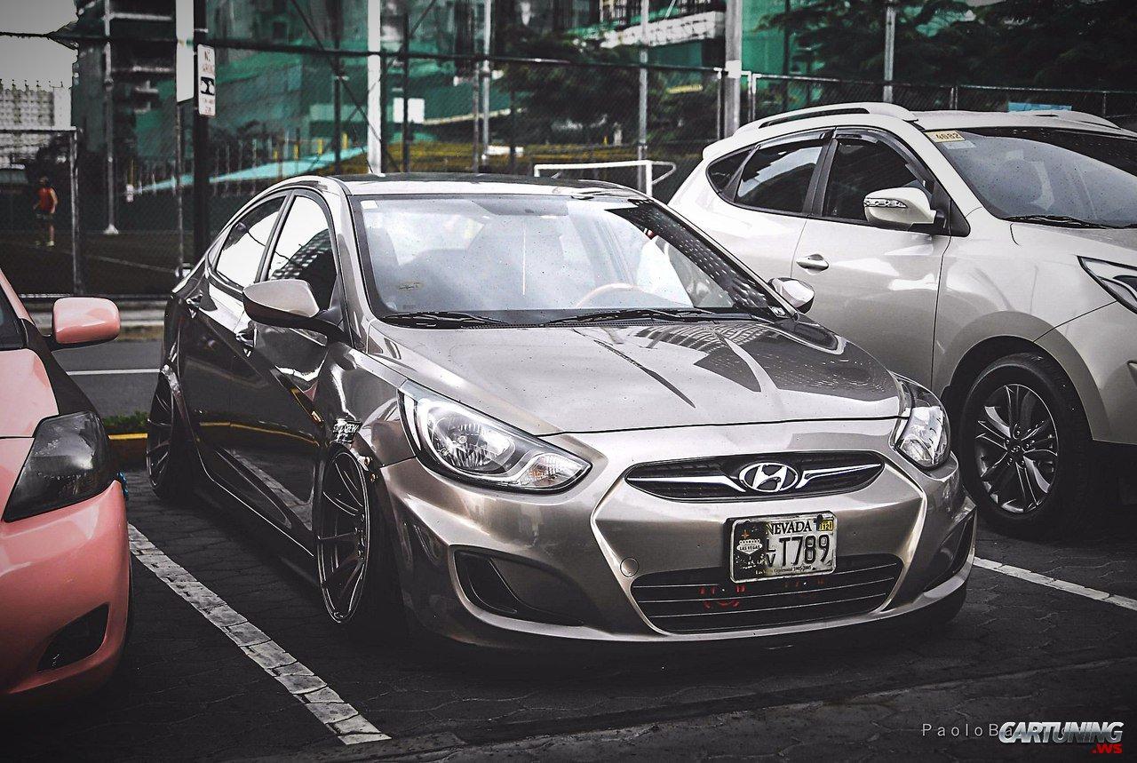 Stanced Hyundai Accent