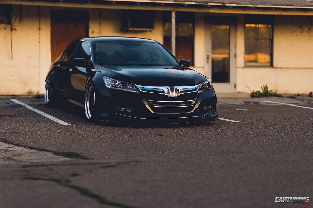 Stanced Honda Accord USA front