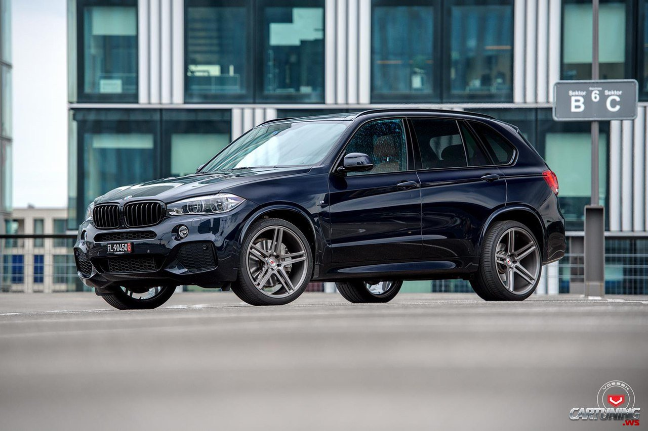 bmw x5 f15 vossen side and front. Black Bedroom Furniture Sets. Home Design Ideas