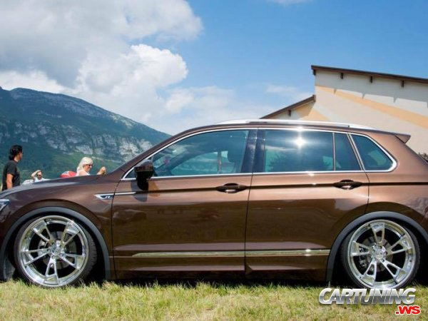 volkswagen tiguan r 2017 airlift side. Black Bedroom Furniture Sets. Home Design Ideas