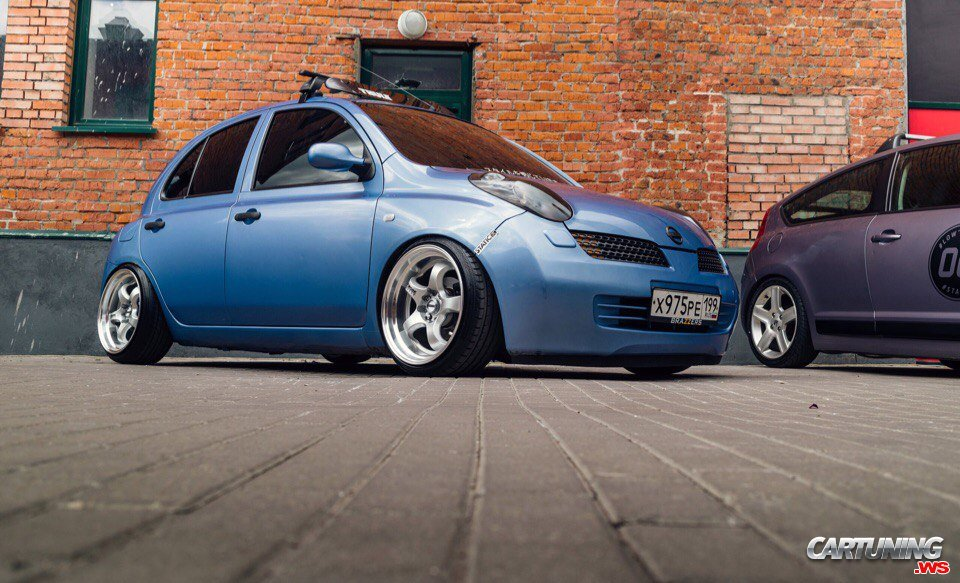tuning nissan micra front and side. Black Bedroom Furniture Sets. Home Design Ideas