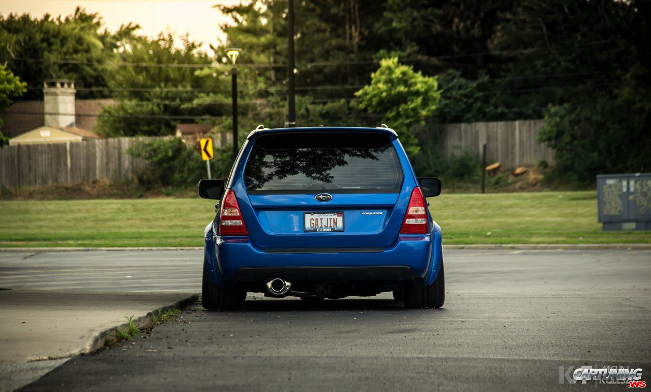Lowered Subaru Forester Rear