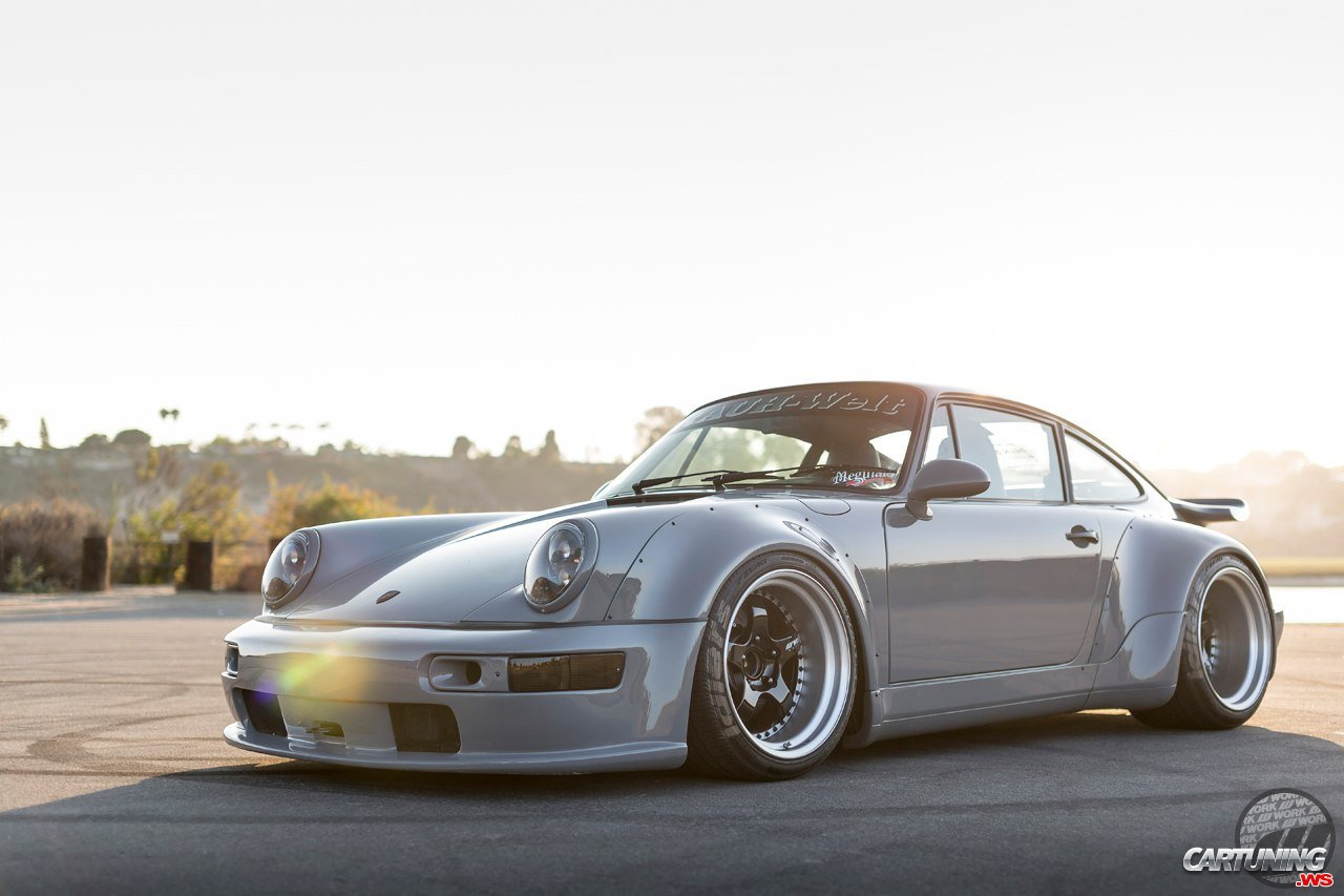 Tuning Porsche 930 Turbo Rwb Front And Left Side