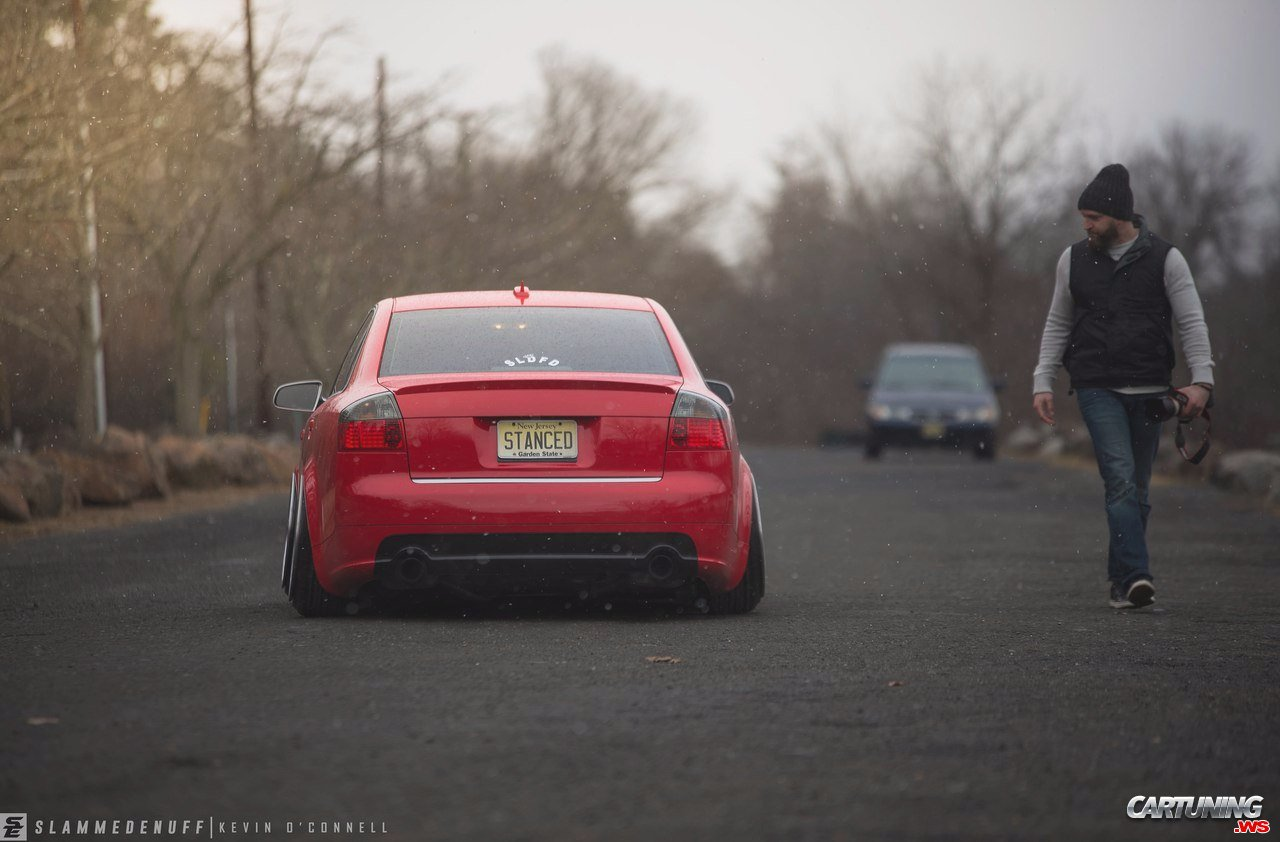 Stanced Audi A4 B6 Rear