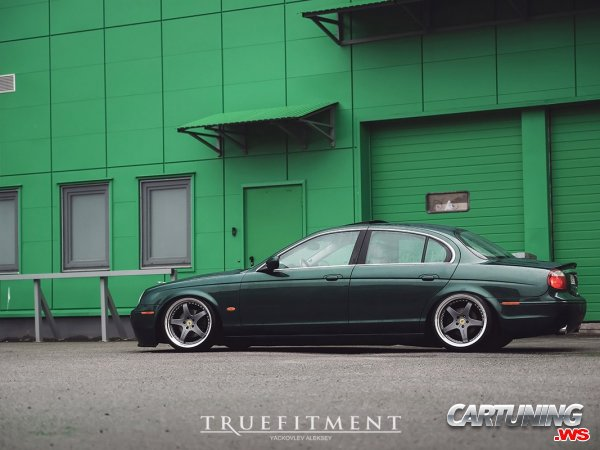 Stanced Jaguar S-Type