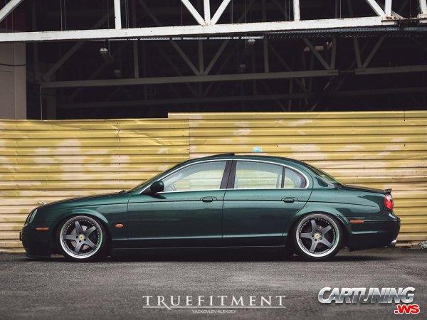 Stanced Jaguar S-Type