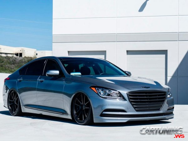 Stanced Hyundai Genesis