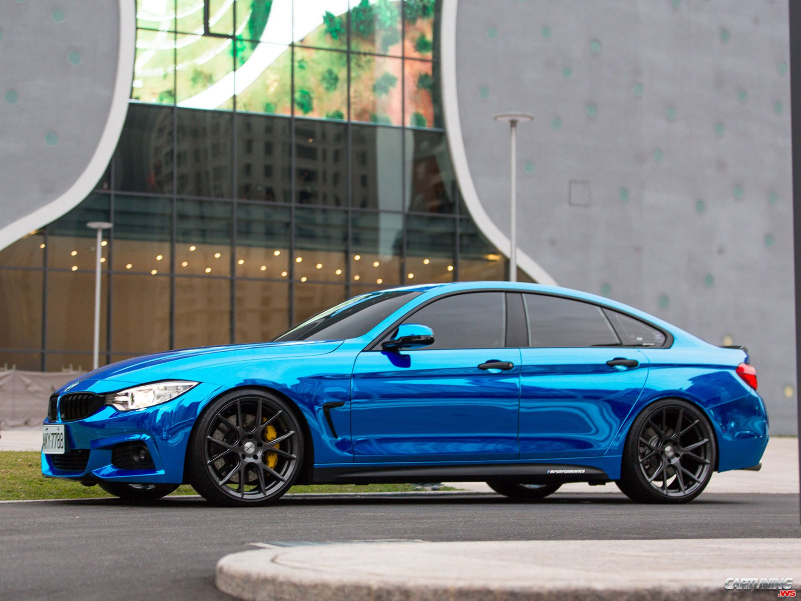 tuning bmw 435i gran coupe f36 front and side. Black Bedroom Furniture Sets. Home Design Ideas